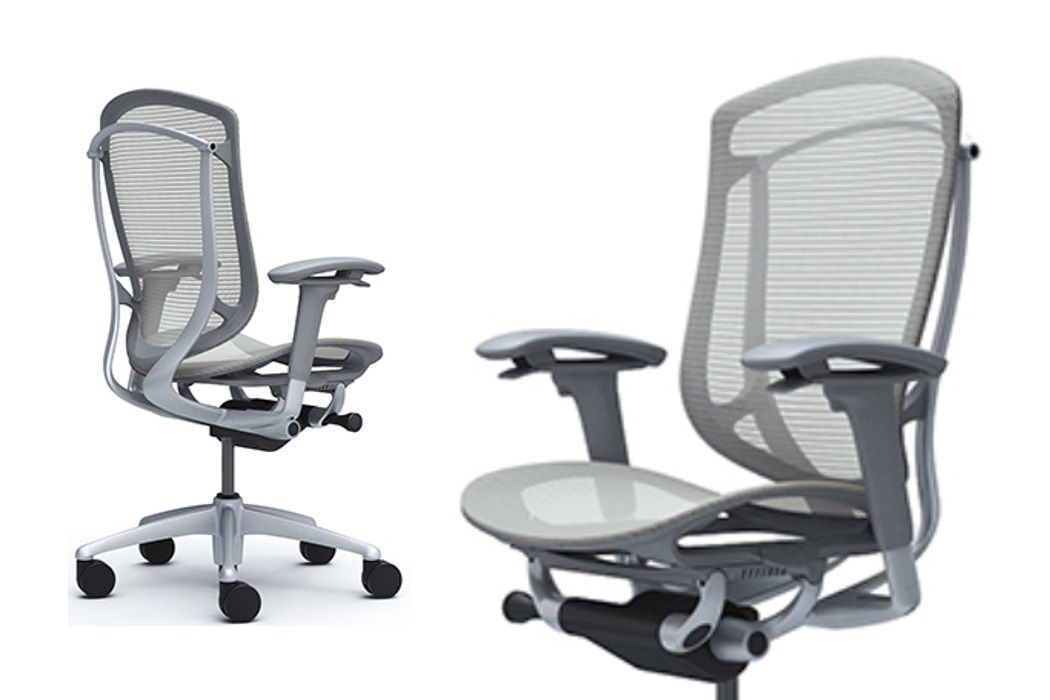 Okamura Cntessa Seconda Full Grey Mesh Office Chair